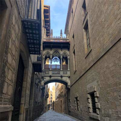 Barri Gòtic quartier gothique Barcelona